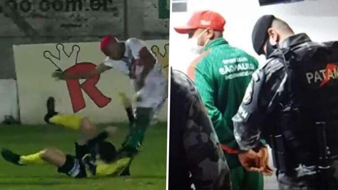 โคตรโหด! แข้งบราซิลถูกรวบตัวคาสนาม หลังไล่กระทืบผู้ตัดสิน ฟุตบอลรายการอื่นๆ